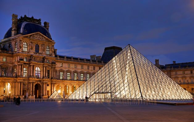 I.M. Pei's famous Louvre Pyramid in Paris. Photo: VCG