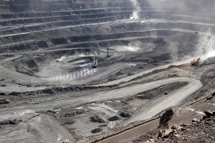 A rare-earths mine in China's northern region of Inner Mongolia in July 2011. Photo: VCG