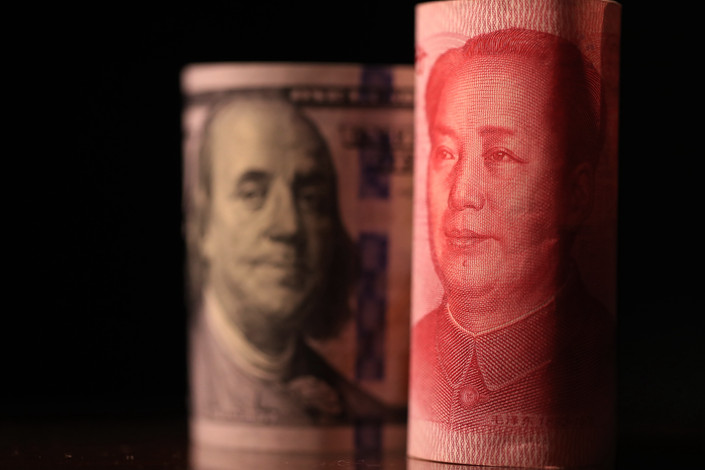 On the currency front, the dollar index was little changed, with the yuan down 2.4 percent against the dollar. Photo: IC Photo