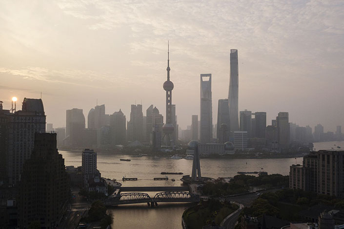 Shanghai's financial district. Photo: Bloomberg