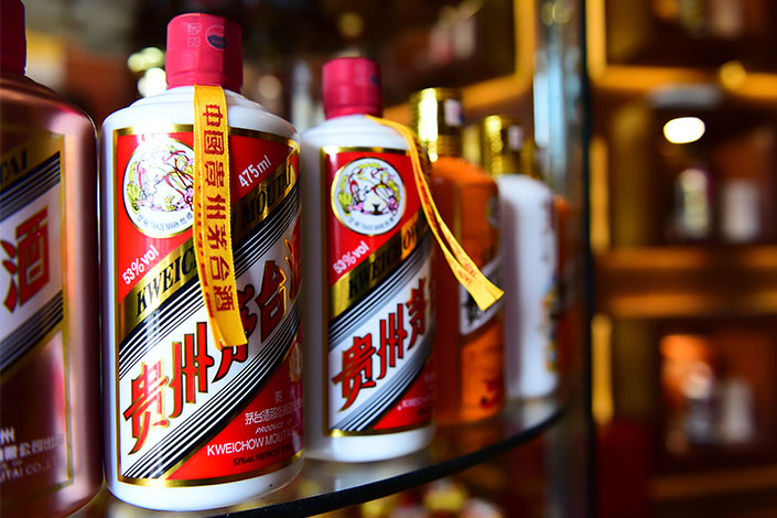 Moutai products at a store in Beijing on May 25. Photo: VCG