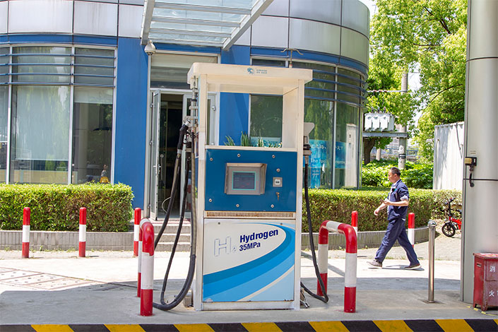 A Hydrogen station in Shanghai, on May 3, 2019. Photo: VCG