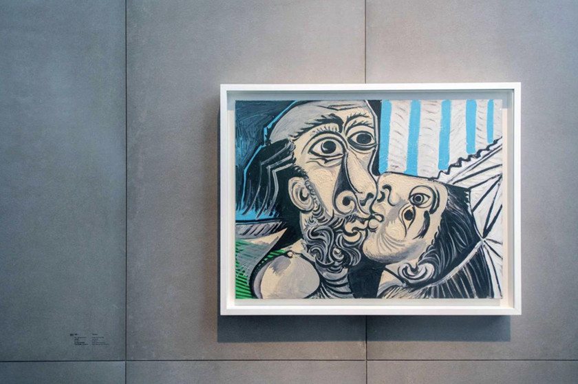 "Pablo Picasso's painting ""The Kiss"" hangs on display at the UCCA Center for Contemporary Art in Beijing. The exhibit, which features 34 of the Spanish master's paintings, opened Saturday and runs until Sept. 1. Photo: UCCA_Gallery: Periods of Picasso"