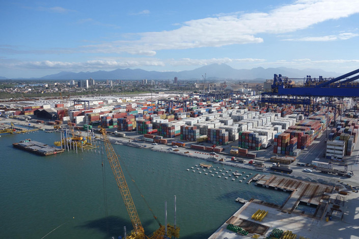 A container yard at in the Port of Paranaguá, Brazil, which was purchased by a Hong Kong company last year. August 27, 2018. Photo: VCG