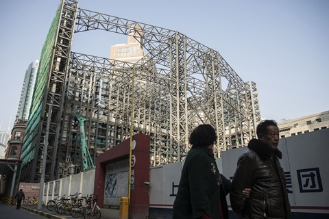 Chinese developers face funding strains after a string of tightening policies since last year. Photo: VCG