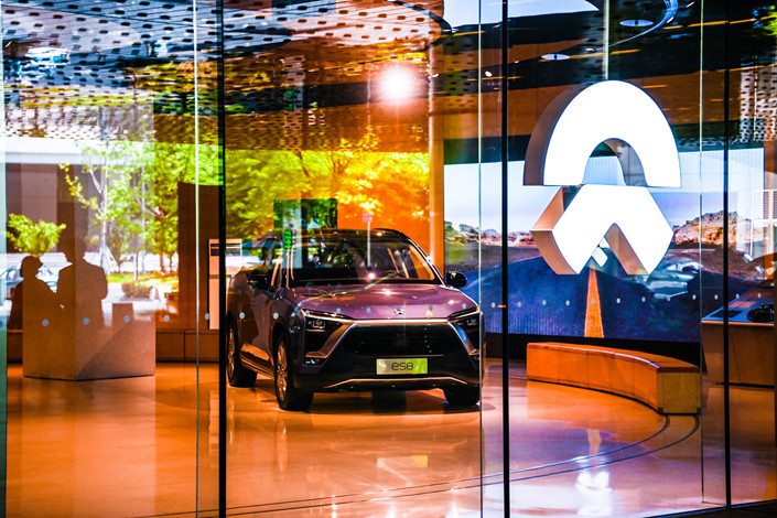 A Nio dealership in Shanghai on April 27. Photo: IC Photo