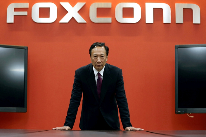 Terry Gou, founder and chairman of Foxconn, gives an interview in Taipei in June 2017. Photo: VCG