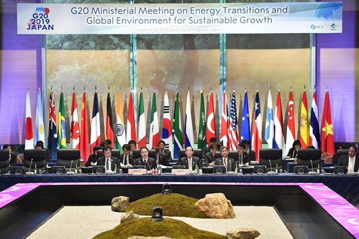 Energy and environment ministers from member countries of the Group of 20 meet in Karuizawa, Japan, on June 15. Photo: VCG