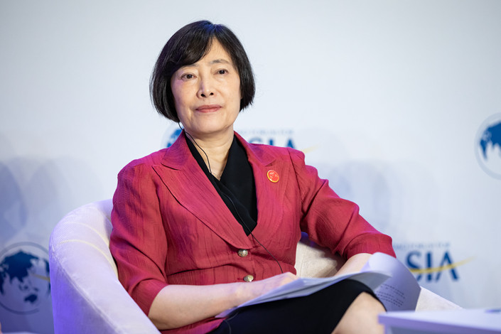 Export-Import Bank of China Chairwoman Hu Xiaolian. Photo: VCG