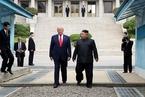 """三度""""金特会"""":特朗普短暂步入朝鲜 美朝谈判将重启"""