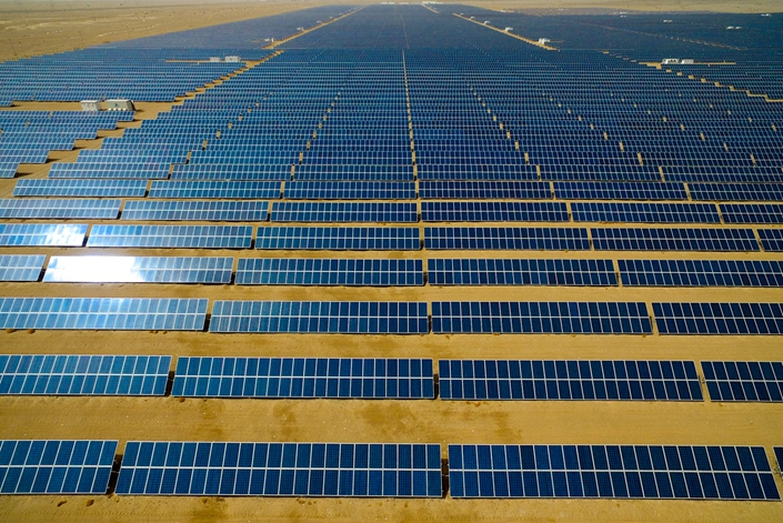 A solar power array in Northwest China's Qinghai province in June 2018. Photo: IC Photo