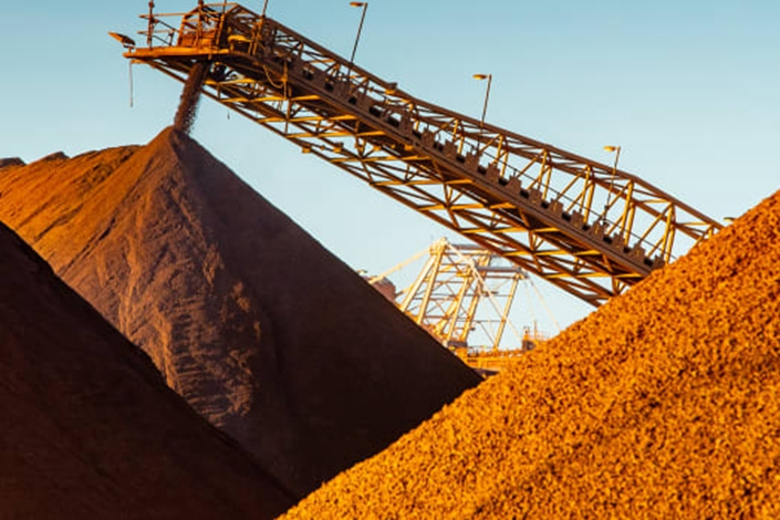 Construction is underway on Fortescue's Eliwana iron ore mine. Photo: AFR