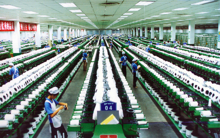 A silk factory belonging to the Yibin Grace Group in the city of Yibin. Photo: VCG