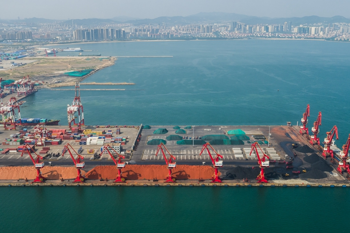 Weihai port is seen on July 5, 2018. Photo: IC Photo
