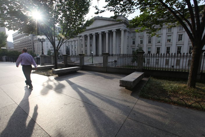 U.S. Treasury holdings by foreigners hit a new high, rising to $6.54 trillion. Photo: Bloomberg