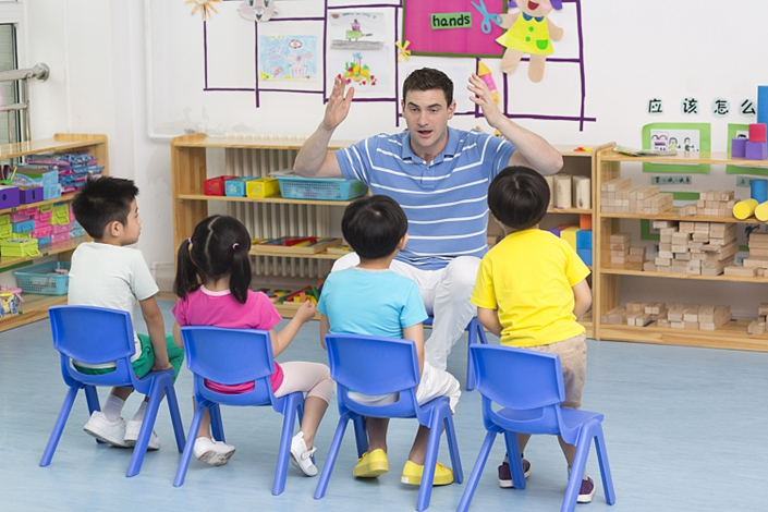 Helping foreigners get visas and find work as kindergarten teachers without proper qualifications has grown into a well-organized business in China. Photo: VCG