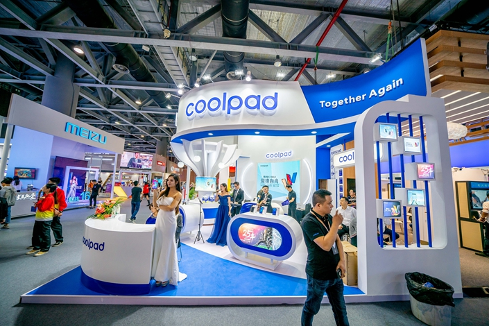 The Coolpad booth at an industry conference in Guangzhou, South China's Guangdong province, on Dec. 6. Photo: VCG