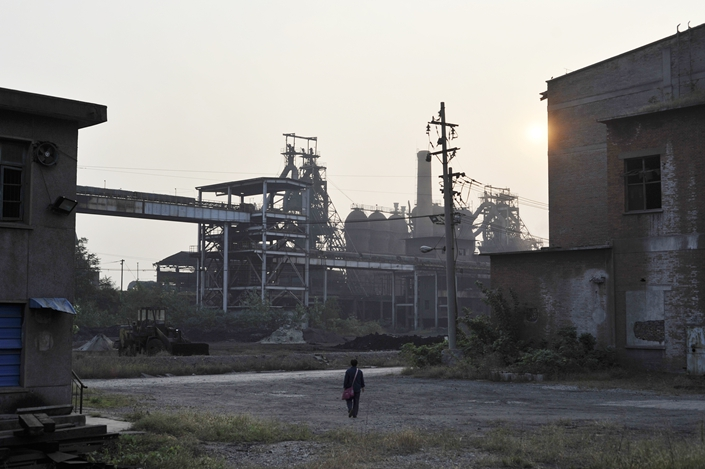A former Magang Iron and Steel factory is seen on Oct. 12, 2014. Photo: VCG
