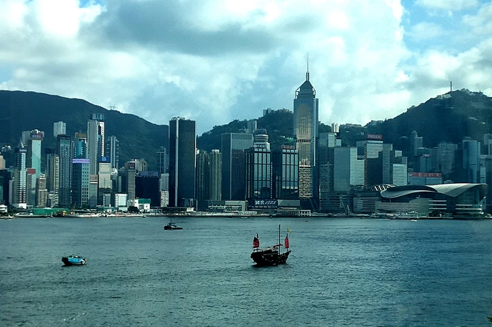Victoria Harbour in Hong Kong on July 25. Photo: IC Photo