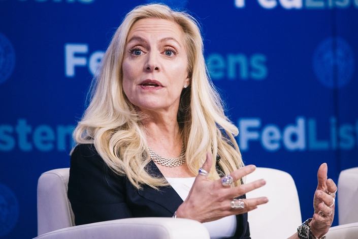 """I am certainly monitoring developments very closely,"" Fed Governor Lael Brainard said at a Kansas City Fed event Monday. Photo: Bloomberg"