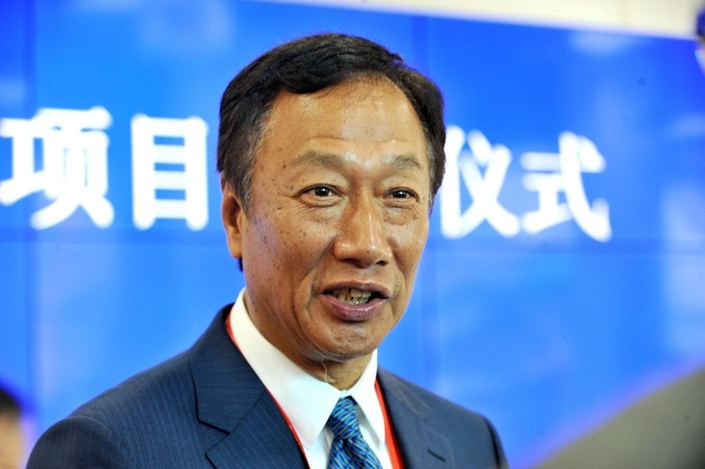 "Foxconn's billionaire founder Terry Gou, who describes the situation as ""G2"" — the emergence of two competing global standards created by China and the U.S. Photo: VCG"