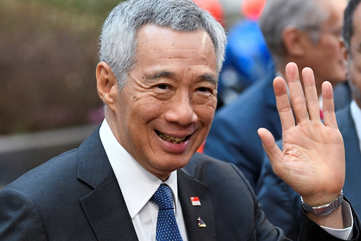 Singapore's Prime Minister Lee Hsien Loong arrives at the Asia–Europe Meeting leaders summit in Brussels, Belgium, on Oct. 19, 2018. Photo: VCG