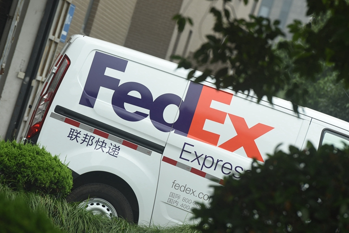 A Fedex van in Hangzhou, East China's Zhejiang province, on July 26, 2019. Photo: VCG