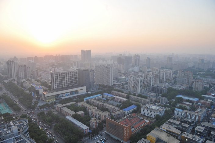 A view of downtown Beijing's Sanlitun commercial district. Photo: VCG