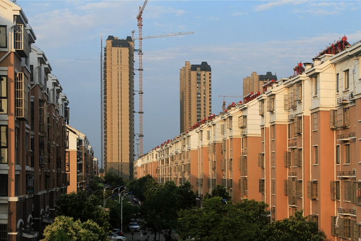 Residential properties under construction in Huai'an, East China's Jiangsu province on June 13. Photo: VCG