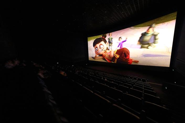 Cinema-goers watch