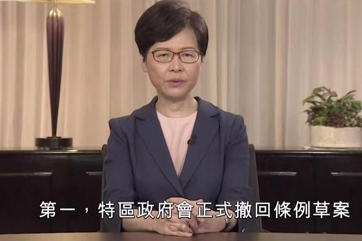 Hong Kong Chief Officially Withdraws Extradition Bill