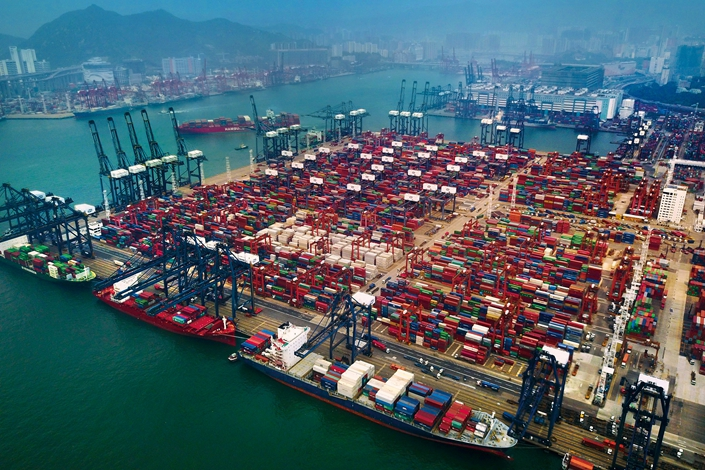 The Kwai Tsing Container Terminals in Hong Kong on Aug. 22, 2017. Photo: VCG