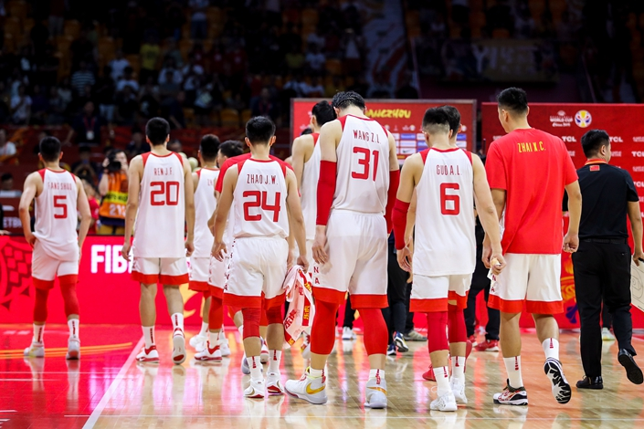 The 2019 China men's basketball team during the World Cup in Guangzhou, South China's Guangdong province, on Sept. 8. Photo: IC Photo