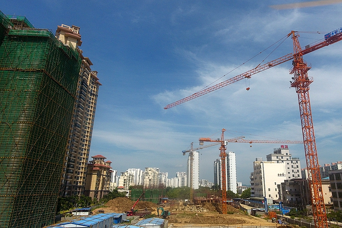 A residential development under construction in Qionghai, South China's Hainan province, on July 15. Photo: VCG