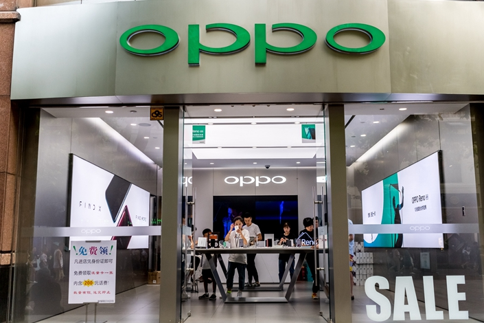 An Oppo retail store in Shanghai on Aug. 22. Photo: IC Photo