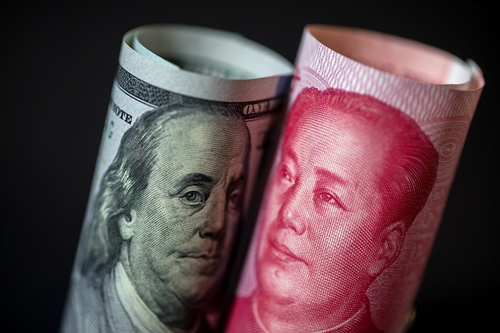Chinese authorities have sought to promote greater use of the yuan in global settlements in recent years, but the push has slowed.Photo: Bloomberg
