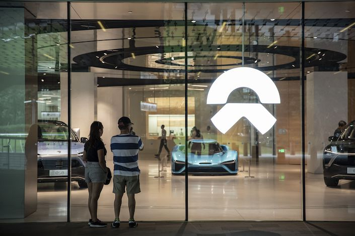Nio's stock has lost 70% of its value since listing in New York last year. Photo: Bloomberg