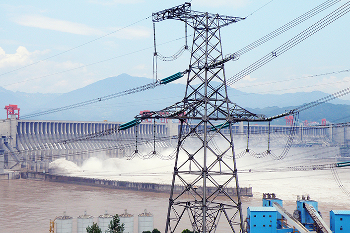 One of China Yangtze Power's four power generation stations in China. This one is located in Yichang, Hubei province.  Photo: IC Photo