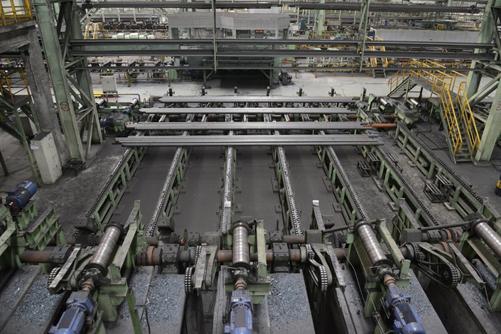 A Baotou Steel Union production line in Baotou, Inner Mongolia, June 20, 2019. Photo: VCG