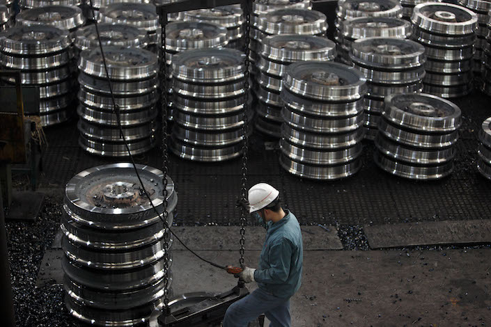 Chinese exporters' combined share of the EU market for steel road wheels doubled to 5.3% last year compared with 2015. Photo: Bloomberg