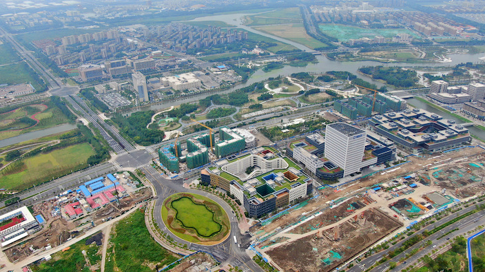 Shanghai Free Trade Zone on August 27, 2019. Photo: VCG