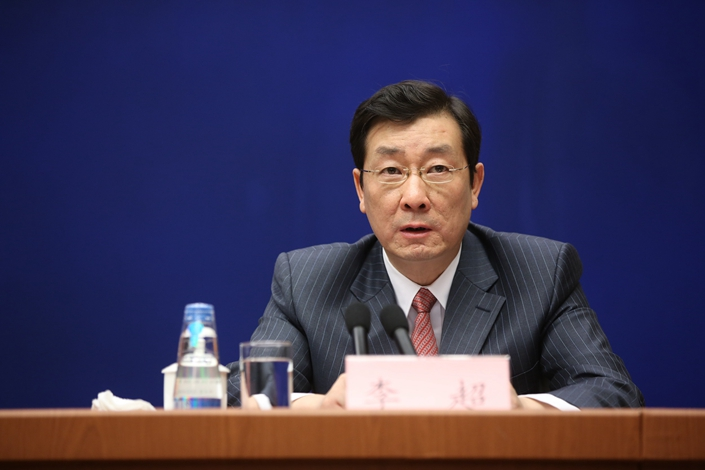 Li chao, vice chairman of the China Securities Regulatory Commission. Photo: VCG