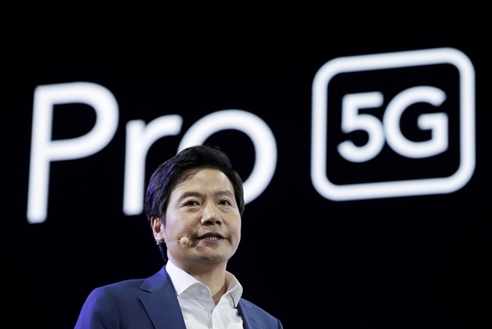 Xiaomi founder and CEO Lei Jun attends a product launch event for the Mi9 Pro 5G in Beijing on Sept. 24. Photo: VCG