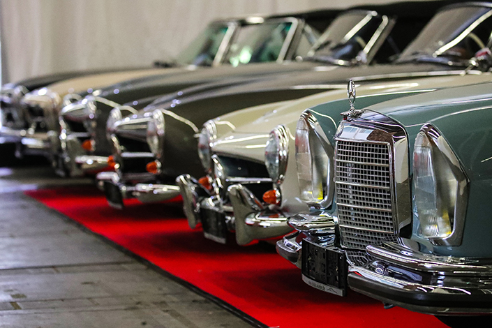 Vintage Mercedes-Benz models. Photo: IC Photo