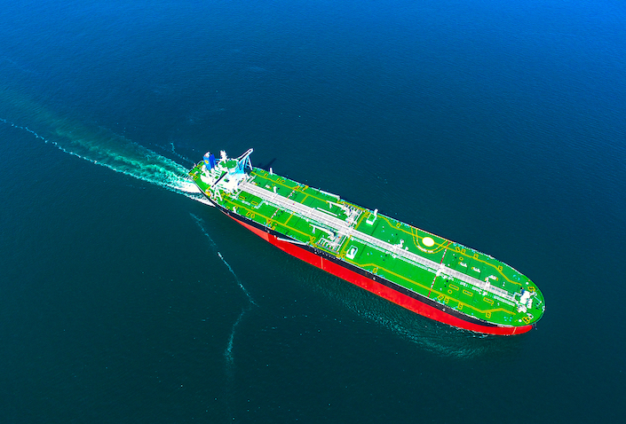 New Journey, the world's first intelligent very large crude carrier developed by CSIC, was delivered June, 23, 2019. Photo: VCG