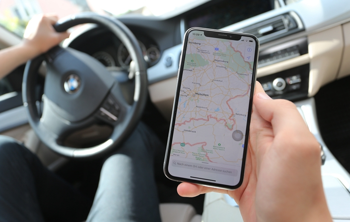 At present, most automakers in China are not allowed to collect their own map information, instead having to work with licensed mapmakers. Photo: IC Photo