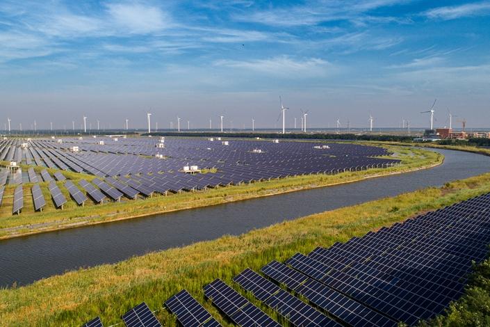A solar farm in Nantong, East China's Jiangsu province on July 30. Photo: VCG
