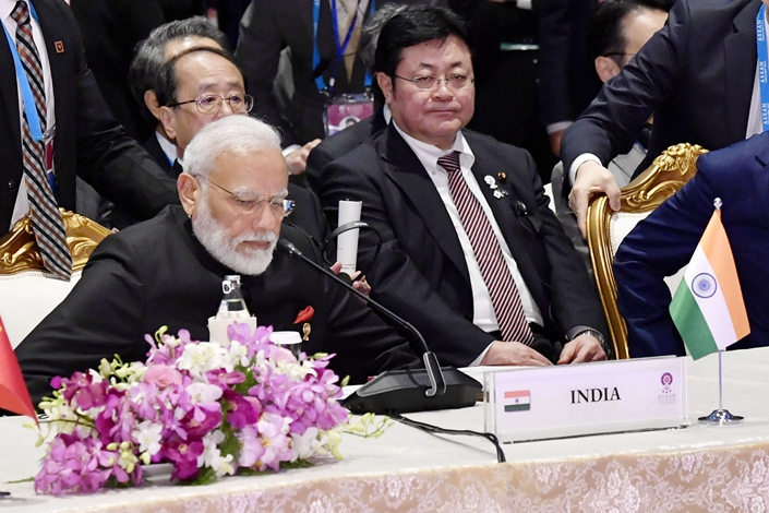 Indian Prime Minister Narendra Modi during a RCEP summit in Bangkok on Nov. 4. Photo: VCG
