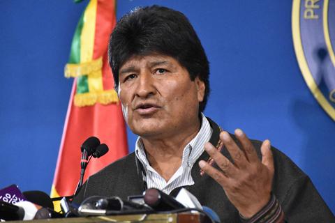 玻利维亚辞职总统遁走墨西哥 选举争议中因军警倒戈下台