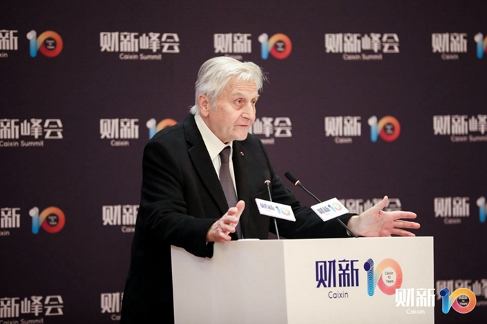 Former head of the European Central Bank Jean Trichet. Photo: Wei Shumin/Caixin